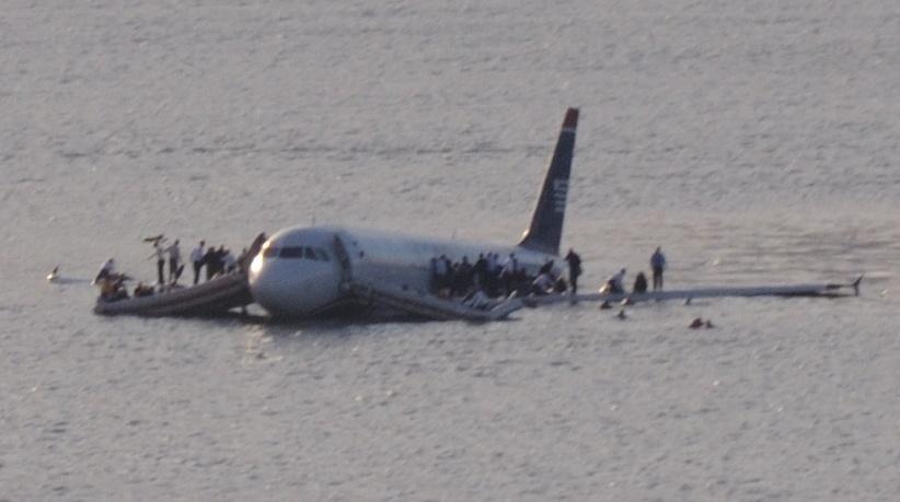 Elokuva perustui 15.1.2009 tapahtuneeseen US Airwaysin lentoon 1549. Kuva: Wikipedia